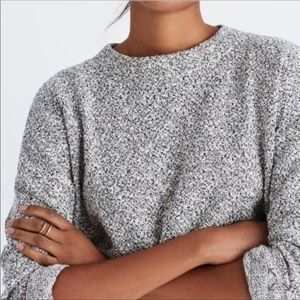 Madewell textured funnel sweater